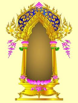 Arch flower thai vintage