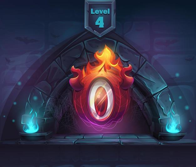 次の第4レベルのアーチマジック。ゲーム、ユーザーインターフェース、デザイン。