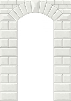 The arch of white stone