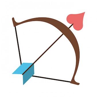 Arch with heart bow arrow