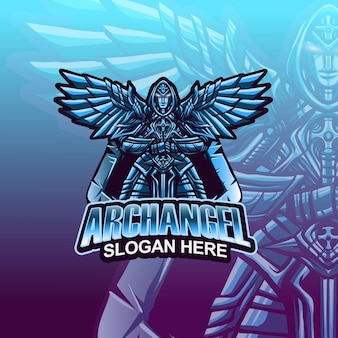 Archangel mascot logo template vector