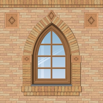 Arched old window