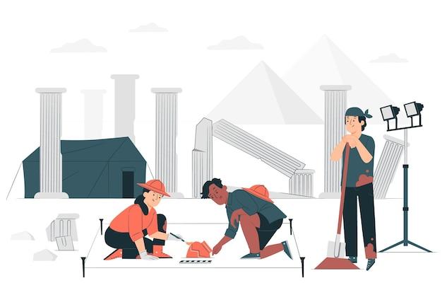 Archeology concept illustration