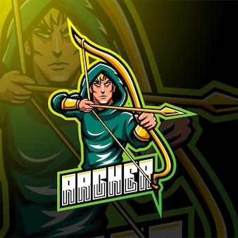 Дизайн логотипа талисмана archer esport