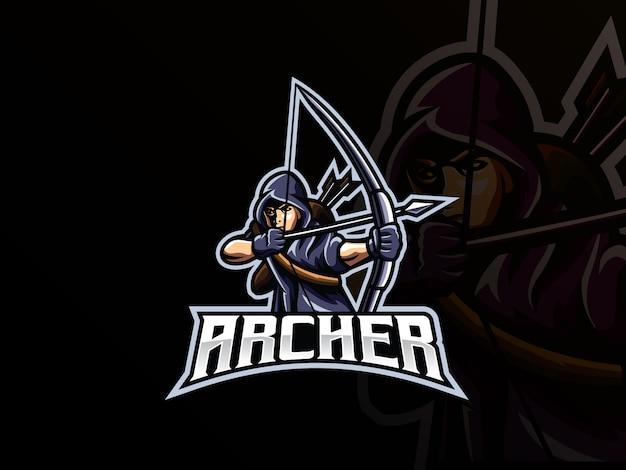 Archer mascot sport logo design