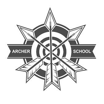 Archer school logo design