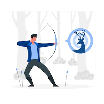 Archery concept illustration