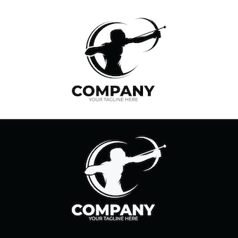 Archery logo design template inspiration