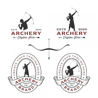 Archery logos with a variety of design styles