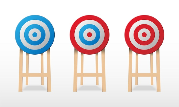 Archery target isolated on white background