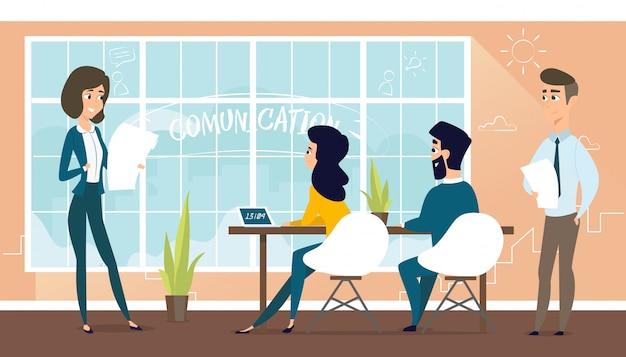Architect는 고객과 프로젝트를 논의합니다.