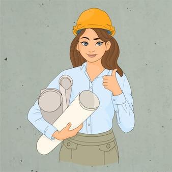 Architect holding some blueprints