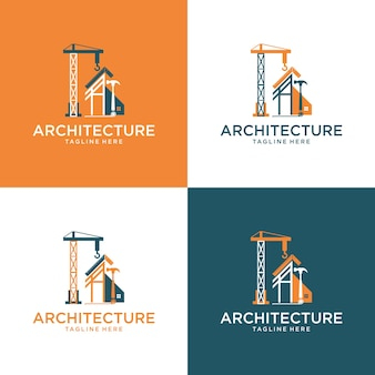 Architect house logo  architectural and construction design 2