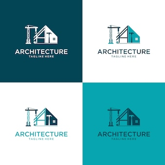 Architect house logo  architectural and construction design 3