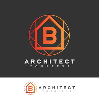 Architect initial letter b logo design