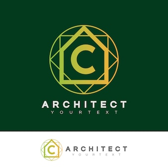Architect initial letter c logo design