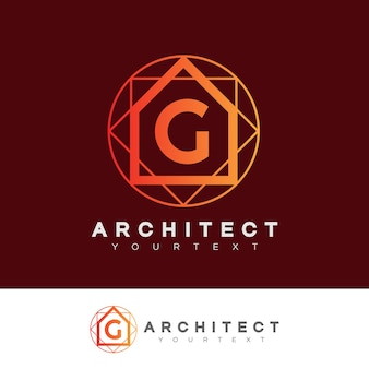 Architect initial letter g logo design