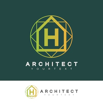 Architect initial letter h logo design