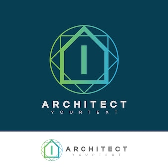 Architect initial letter i logo design
