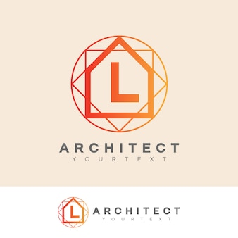 Architect initial letter l logo design