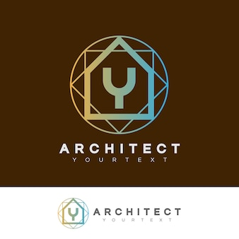 Architect initial letter y logo design