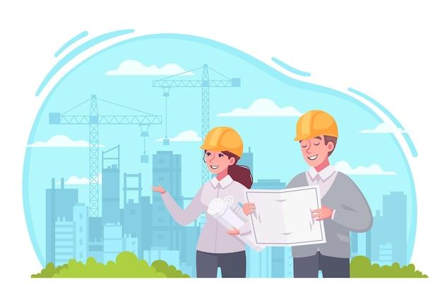 Architect at work illustration