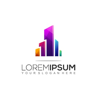Шаблон дизайна логотипа архитектурного здания