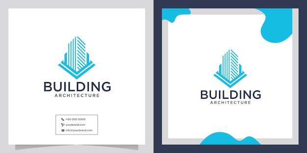 Архитектурная структура здания дизайн логотипа