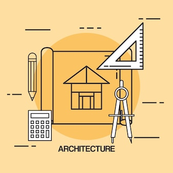 Architectural design set icons