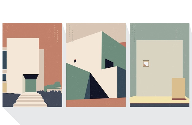 Architecture abstract background with geometric template. building elements cover design.