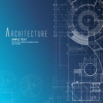 Blue blueprint paper vectors photos and psd files free download architecture background design malvernweather Choice Image