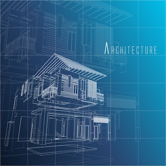 Blue blueprint paper vectors photos and psd files free download architecture background design malvernweather Images