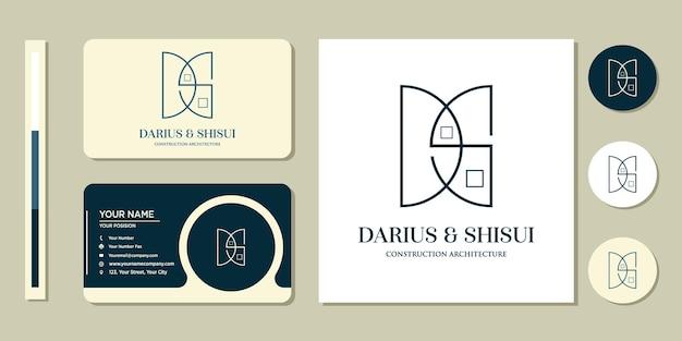Архитектура, строительство, дом, логотип и дизайн шаблона визитной карточки, вдохновение