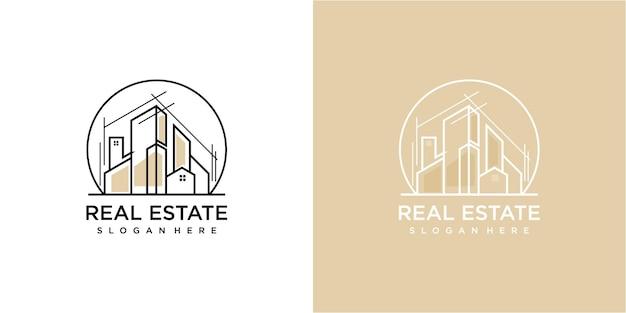 Architecture in circle logo design. building logo design inspirations