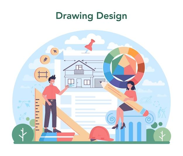 Идея архитектурной концепции строительного проекта и строительных работ
