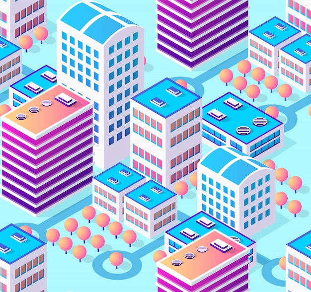 Architecture illustration city for seamless