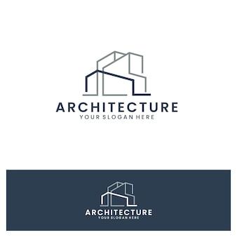 Architecture , line art , logo template