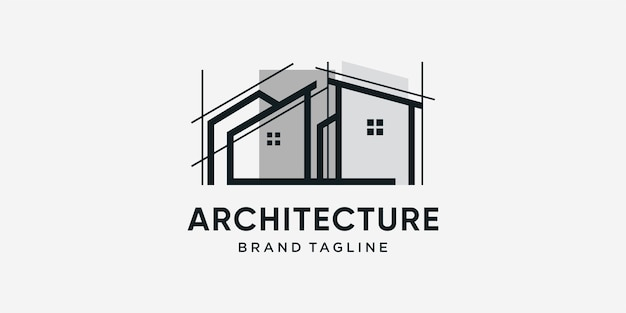 Architecture logo with cool modern concept