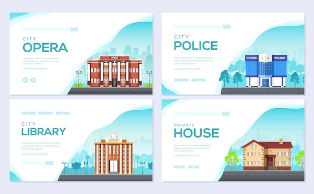 Flyear、雑誌、ポスター、本の表紙のアーキテクチャテンプレート。建設インフォグラフィックの背景。