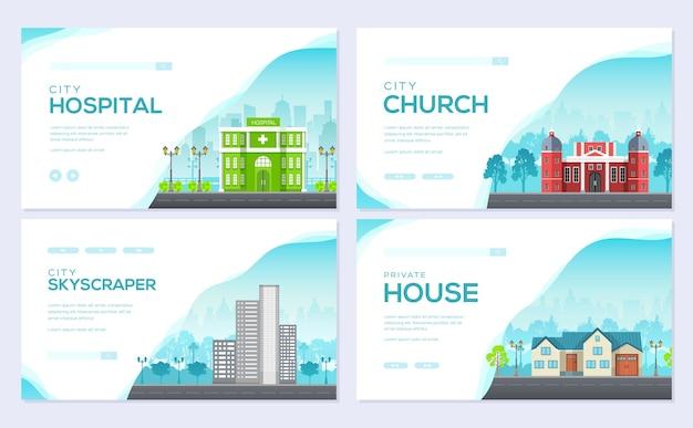 Шаблон архитектуры flyear, журналы, плакат, обложка книги. строительство инфографики фон.