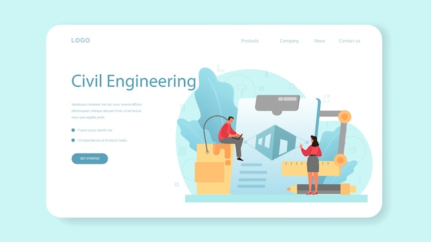 Architecture web banner or landing page