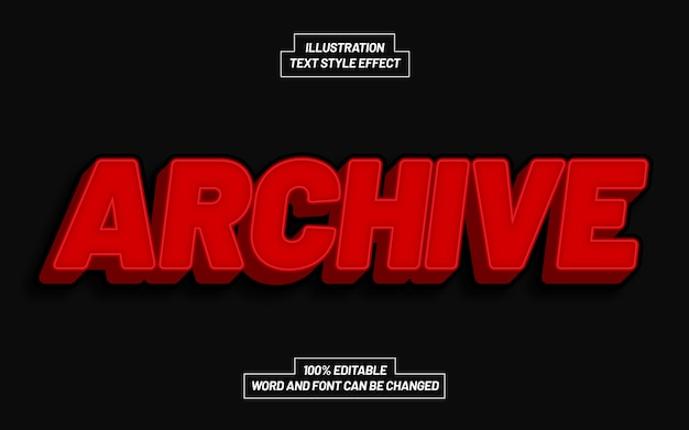 Archive text style effect