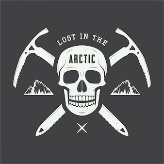 Arctic skull logo.