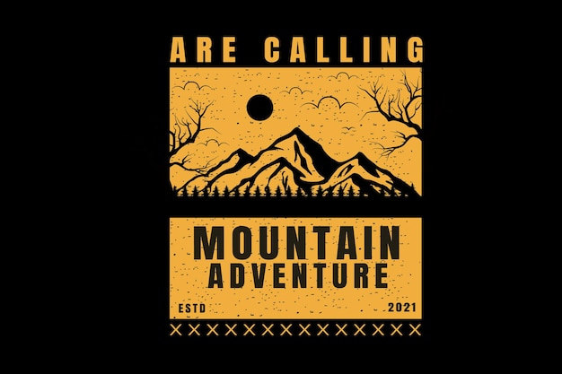 Are calling mountain adventure color yellow and black