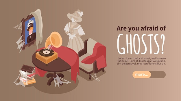Are you afraid of ghosts banner template