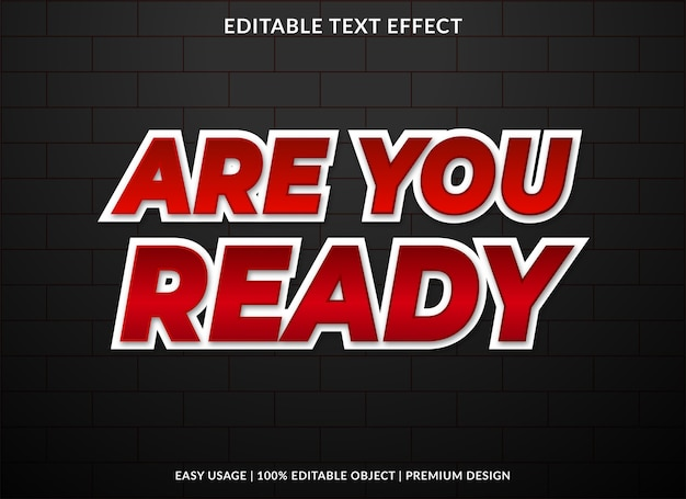 Are you ready text effect template
