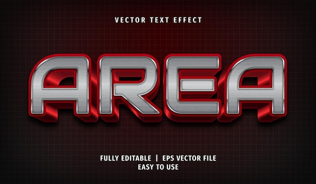 Area text effect, editable text style