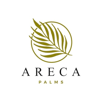 Шаблон логотипа пальмы арека