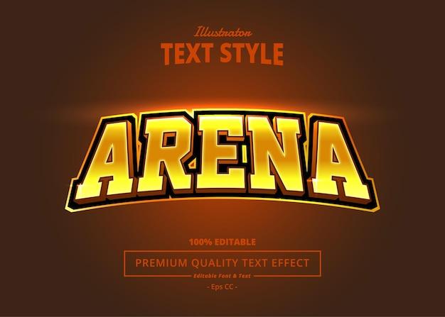Arena illustrator text effect