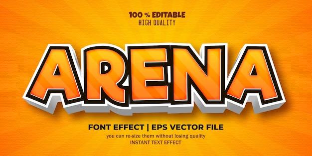 Редактируемый текстовый стиль арены